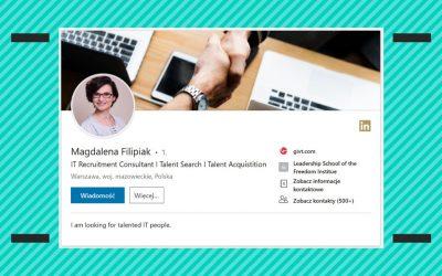 Akcja transformacja: profil naLinkedIn przedipo